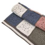 Cotton Lace Granny Square Blanket